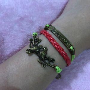 Love bird multilayer leather bracelet